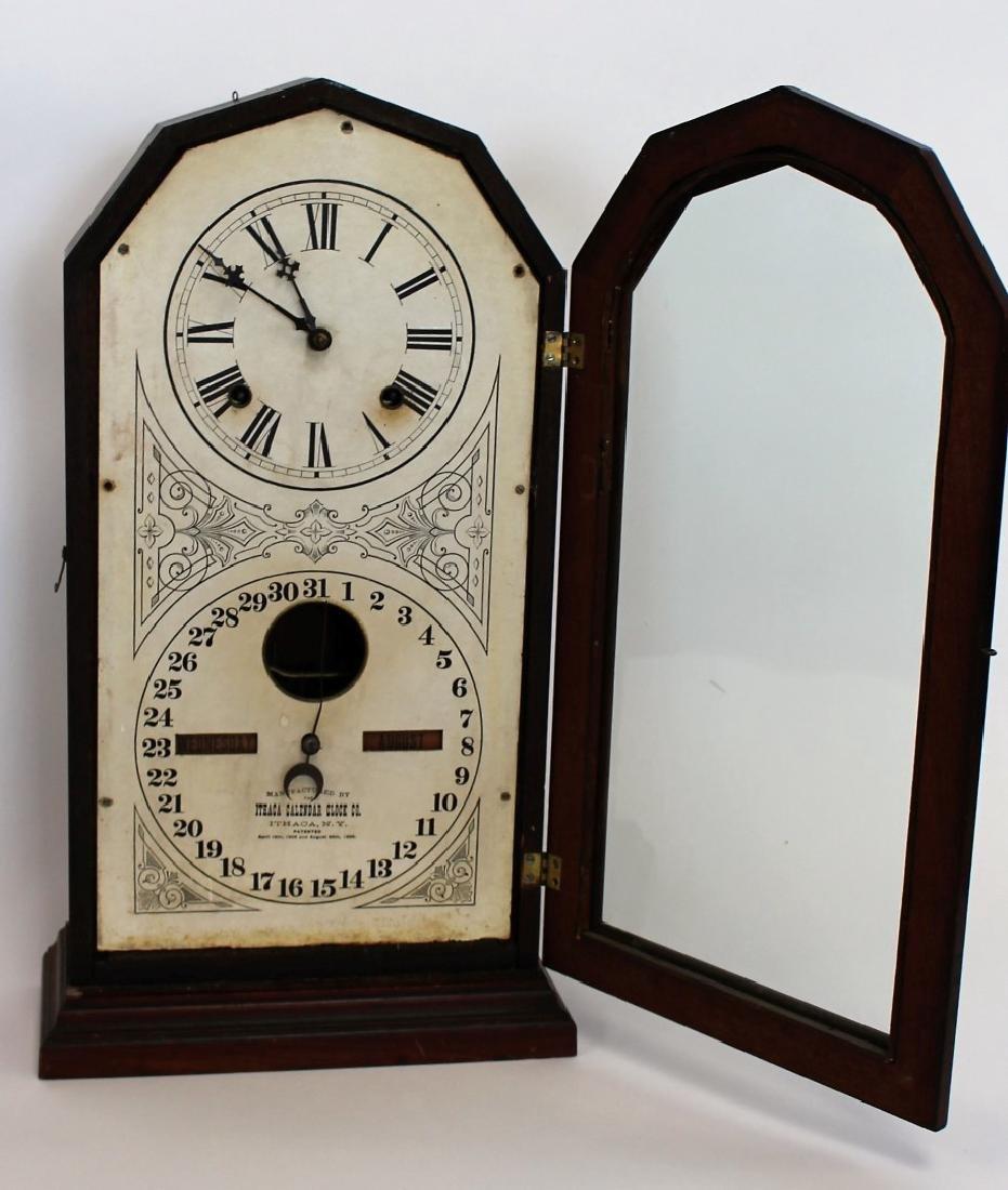 Ithaca Double Dial Calendar Clock - 3