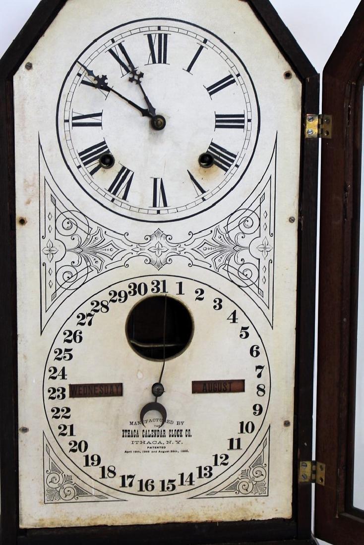 Ithaca Double Dial Calendar Clock - 4