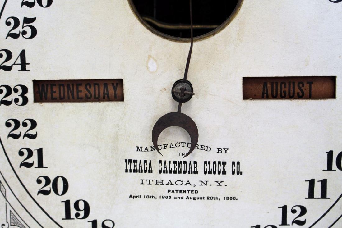 Ithaca Double Dial Calendar Clock - 5