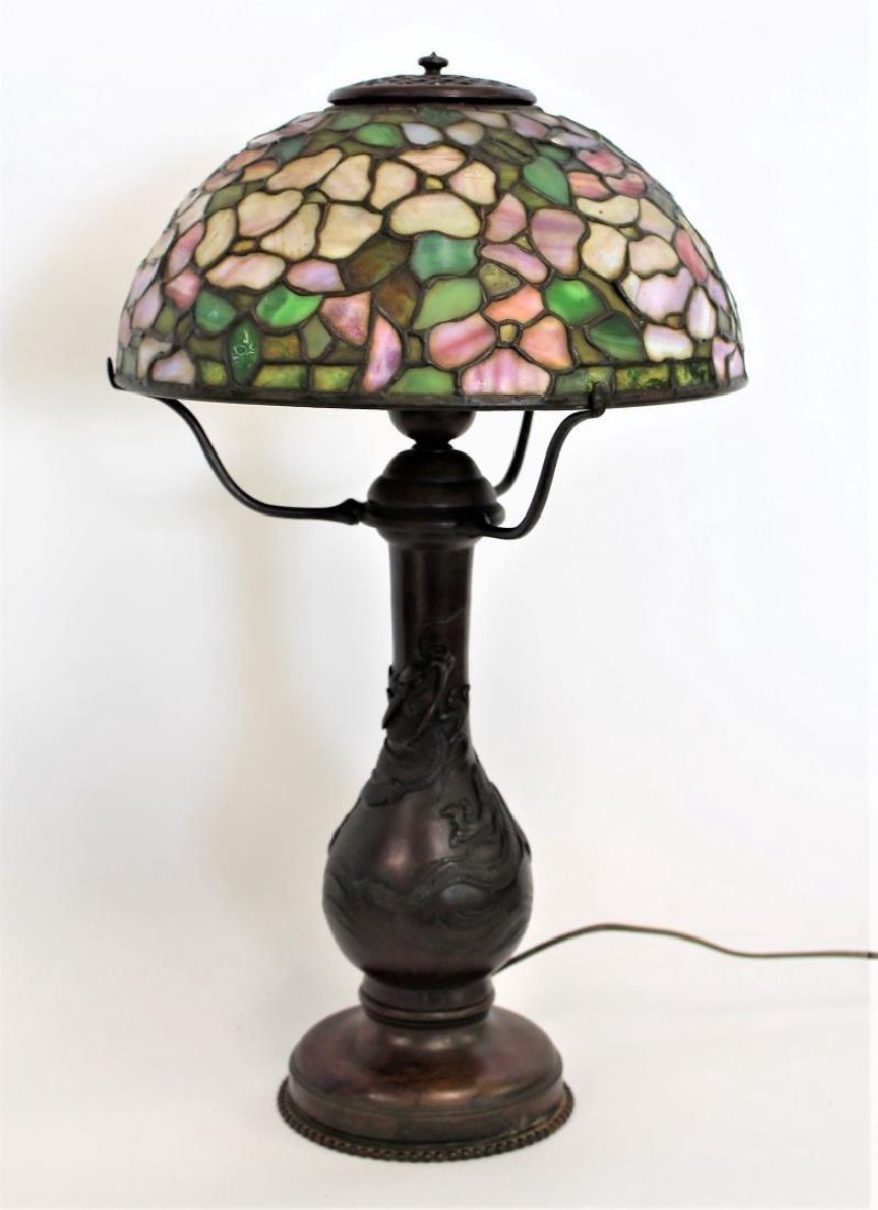 American Leaded Apple Blossom Table Lamp
