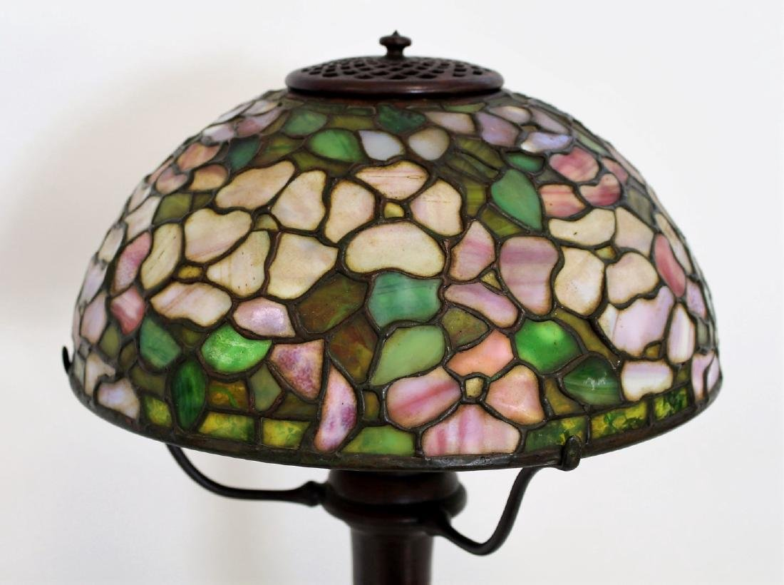 American Leaded Apple Blossom Table Lamp - 2