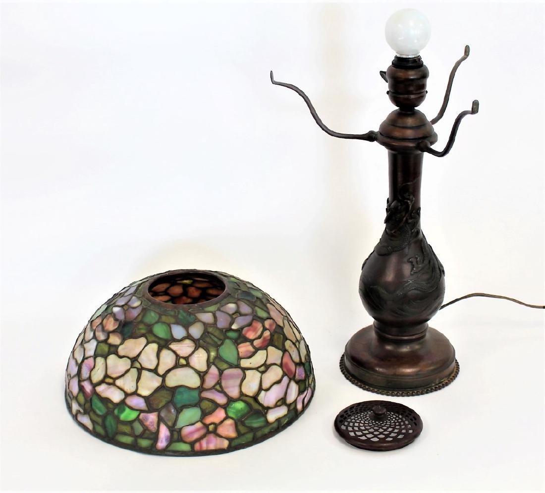 American Leaded Apple Blossom Table Lamp - 4