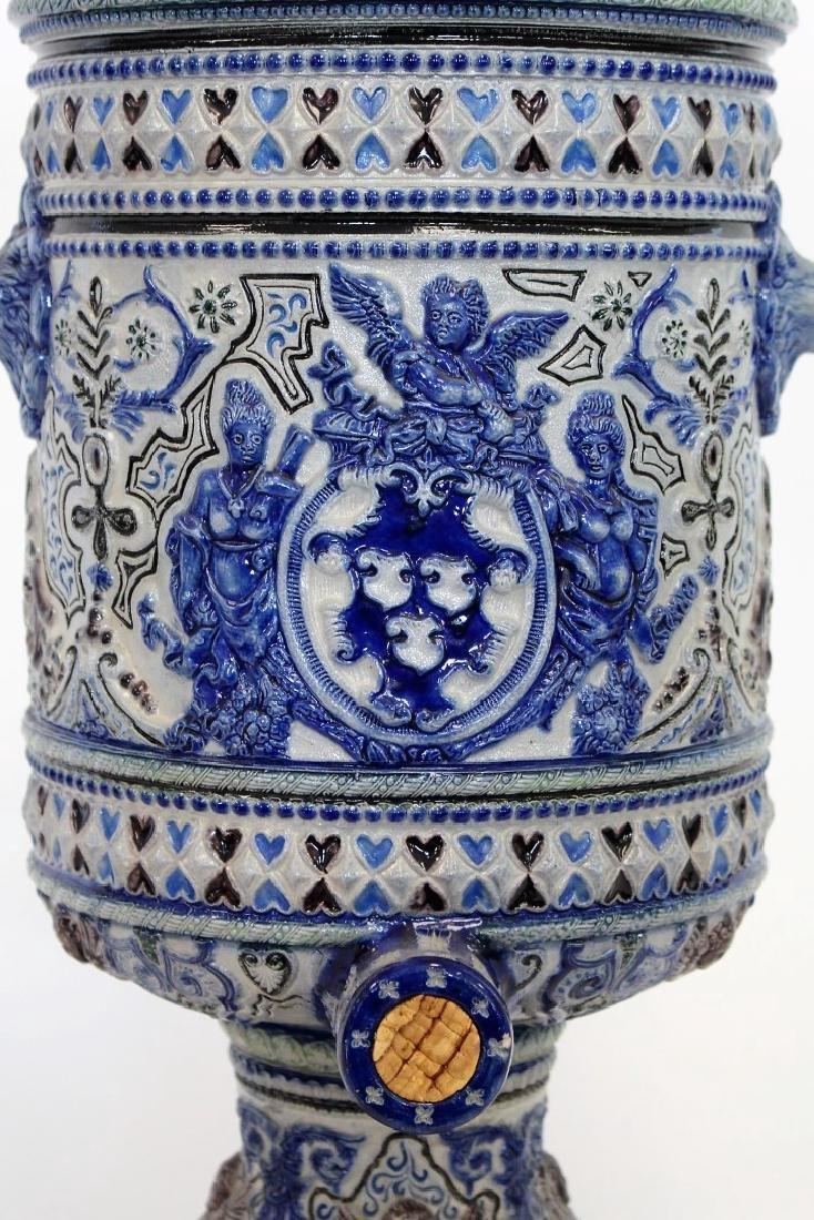German Stoneware Covered Urn - 2