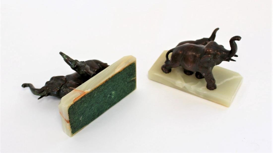 Pair of Bronzed Elephant Bookends - 4