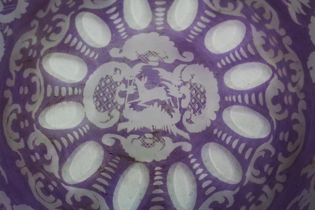 Lot of Bohemian Amethyst Glass Plates(5) - 3