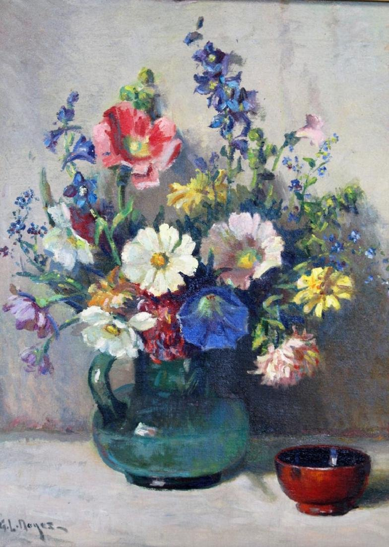 George L.Noyes; American Oil Still Life Signed - 2