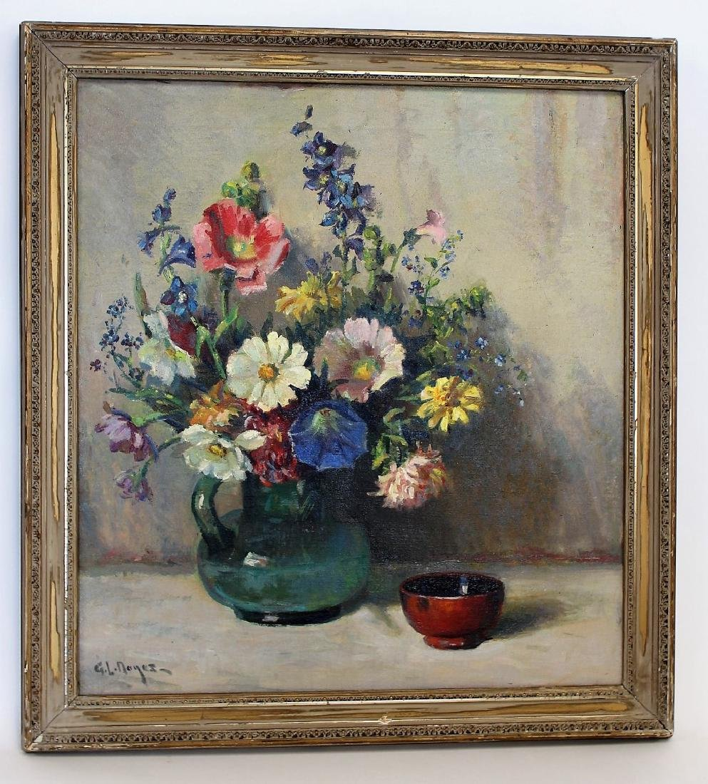 George L.Noyes; American Oil Still Life Signed - 3