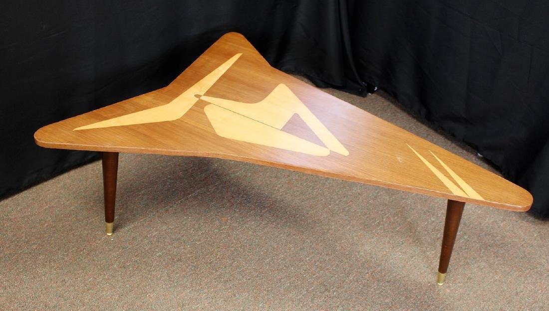 Mid Century Satinwood Inlay Boomerang Table - 5