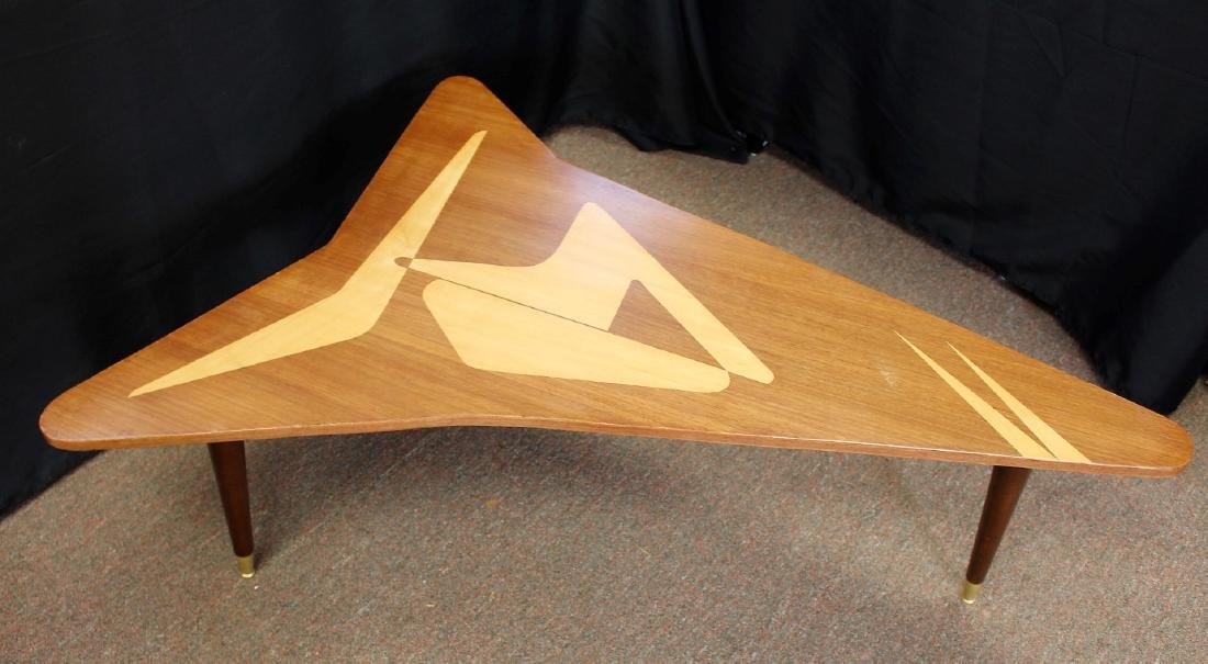 Mid Century Satinwood Inlay Boomerang Table - 6