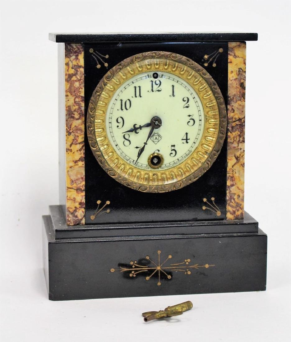 Ansonia Marble Mantle Clock