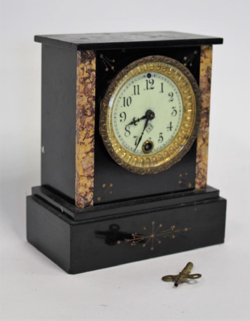 Ansonia Marble Mantle Clock - 2