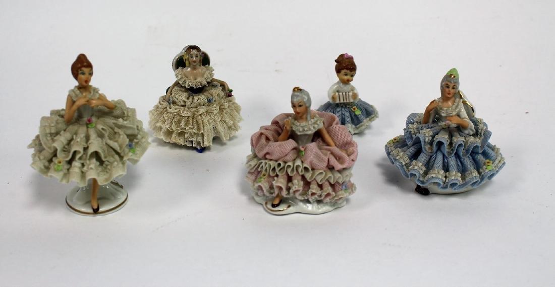 Six(6) Sandzell, West Germany Porcelain Figurines