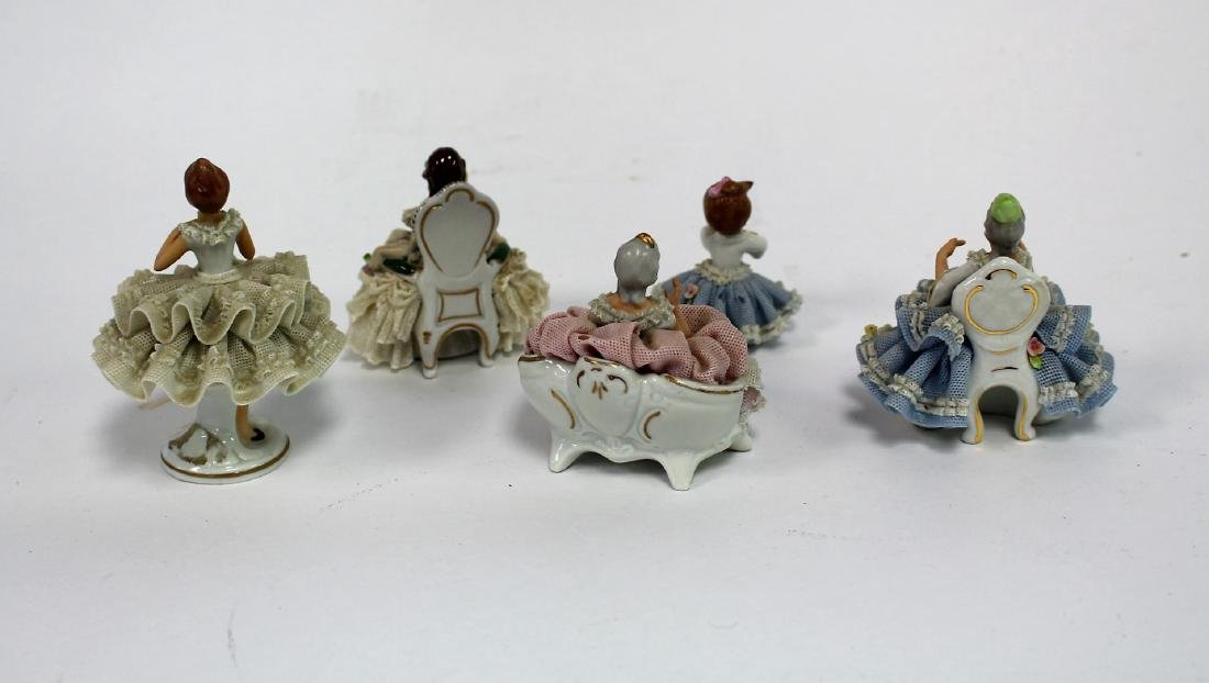 Six(6) Sandzell, West Germany Porcelain Figurines - 4