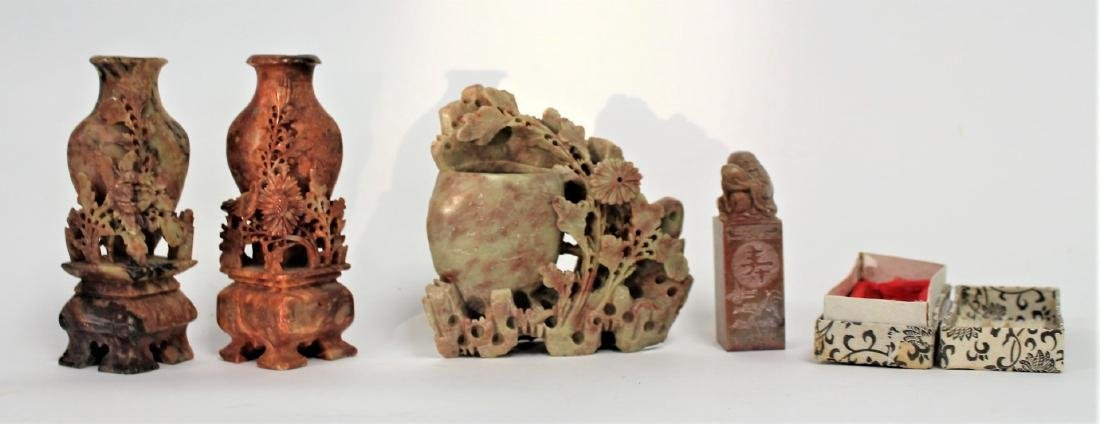 Lot of Miscellaneous Chinese Soapstone Carvings(4)