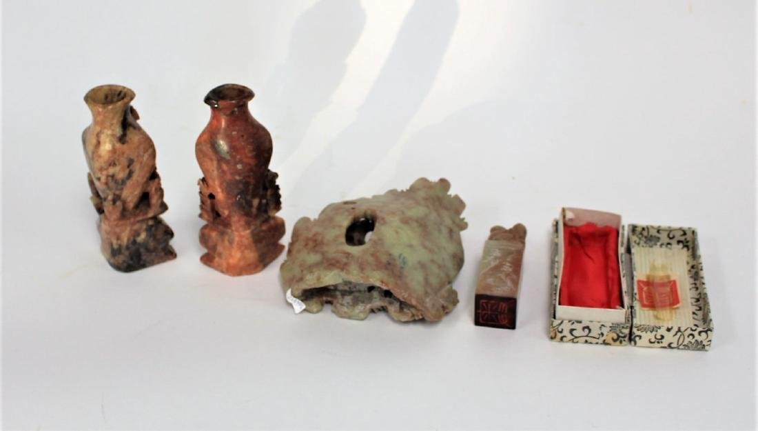Lot of Miscellaneous Chinese Soapstone Carvings(4) - 6