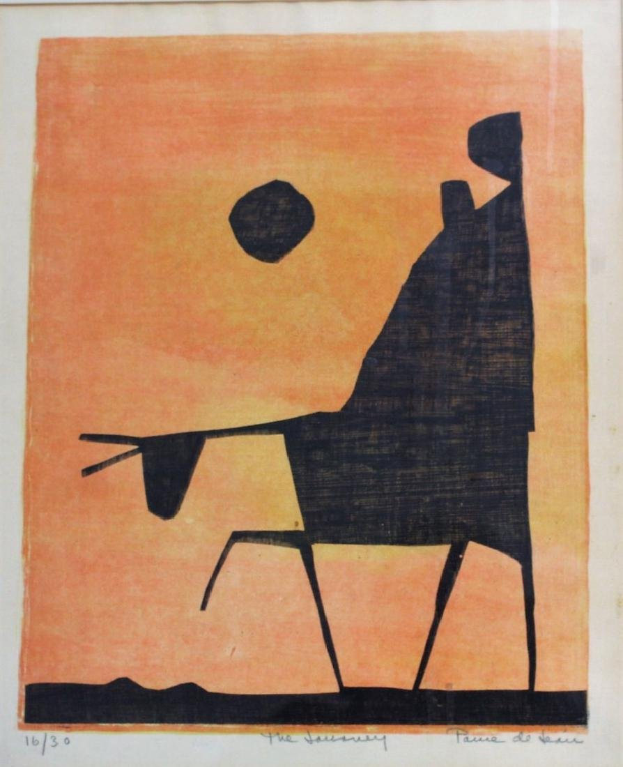20thC. Modernist Lithograph Signed