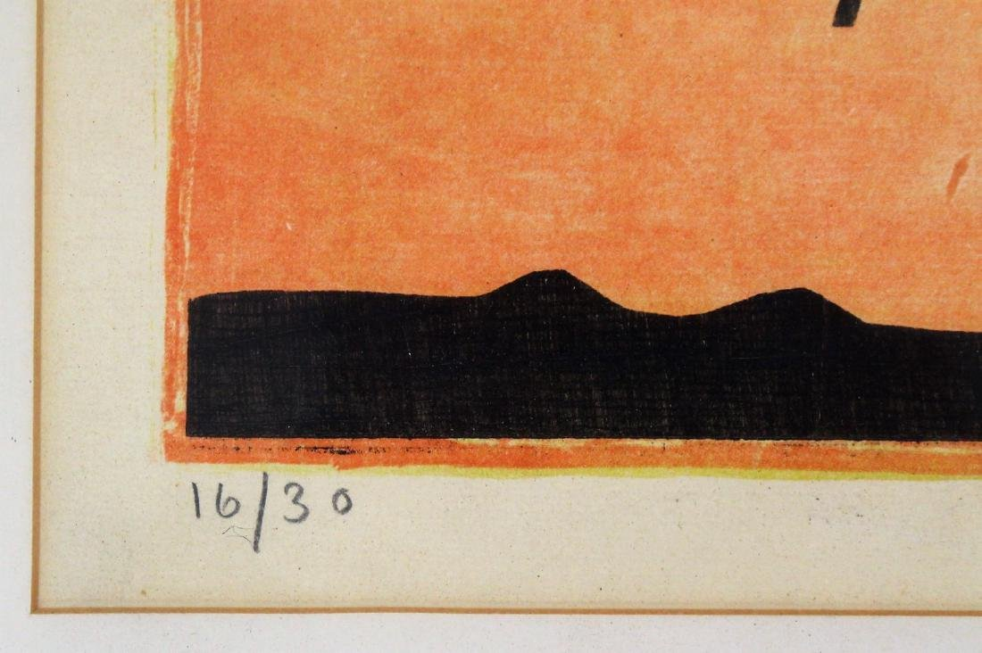 20thC. Modernist Lithograph Signed - 2