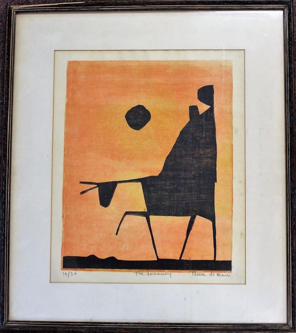 20thC. Modernist Lithograph Signed - 4