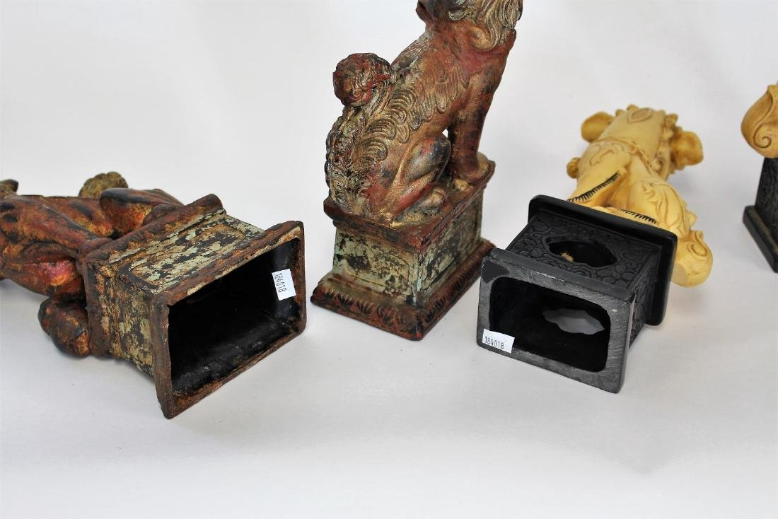 Two(2) Pair of Chinese Foo Dog Bookends - 5