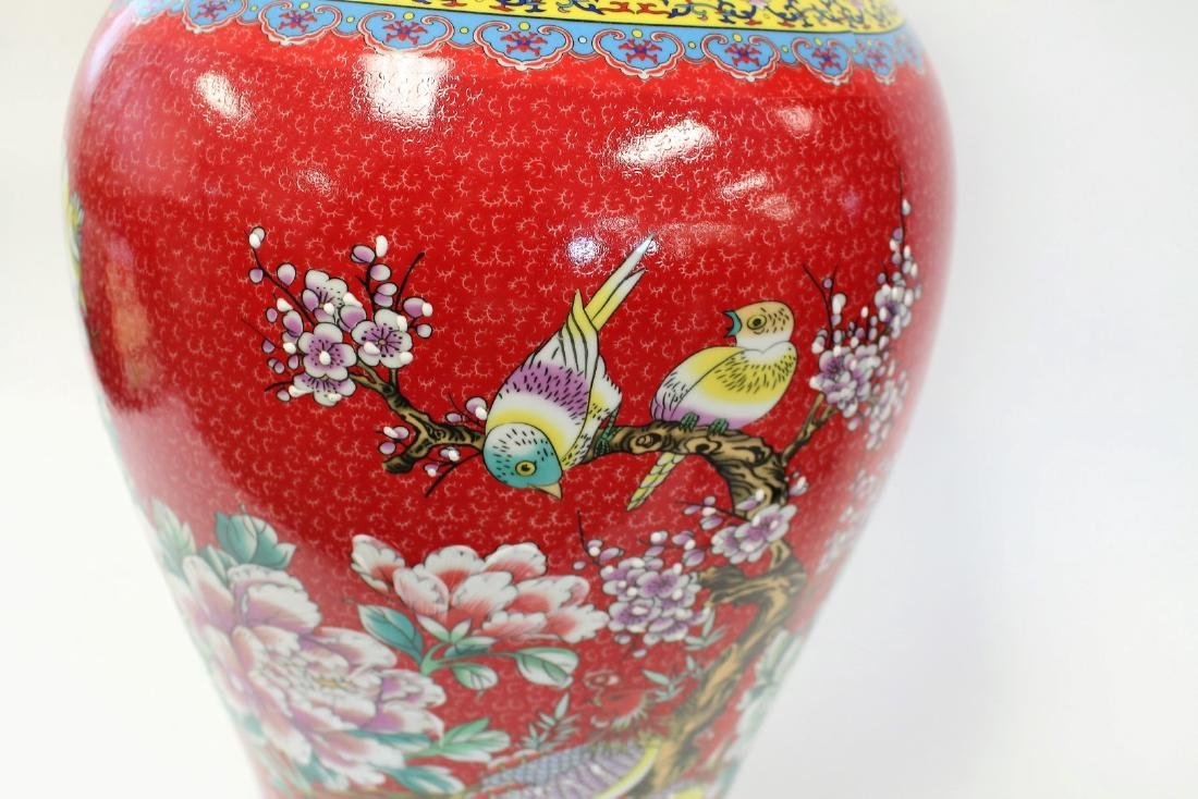 Chinese Porcelain Temple Vase - 5