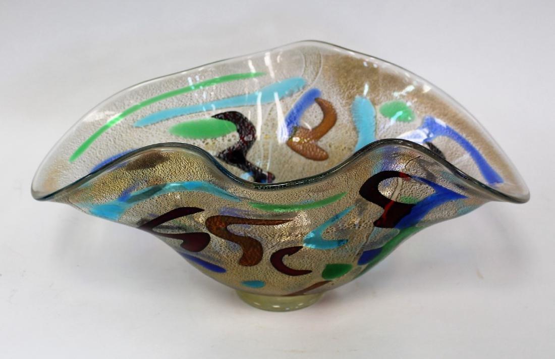 20thC. Studio Art Glass Bowl Signed - 2