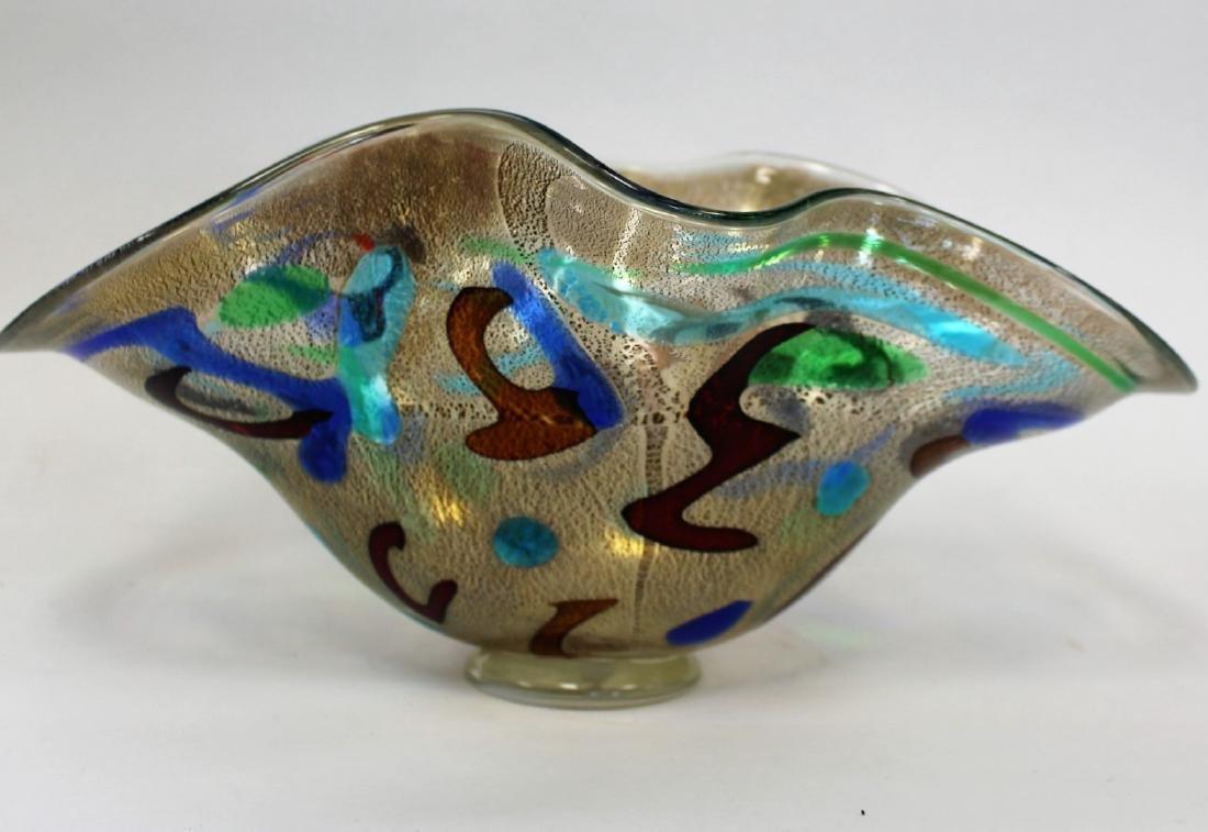 20thC. Studio Art Glass Bowl Signed - 3