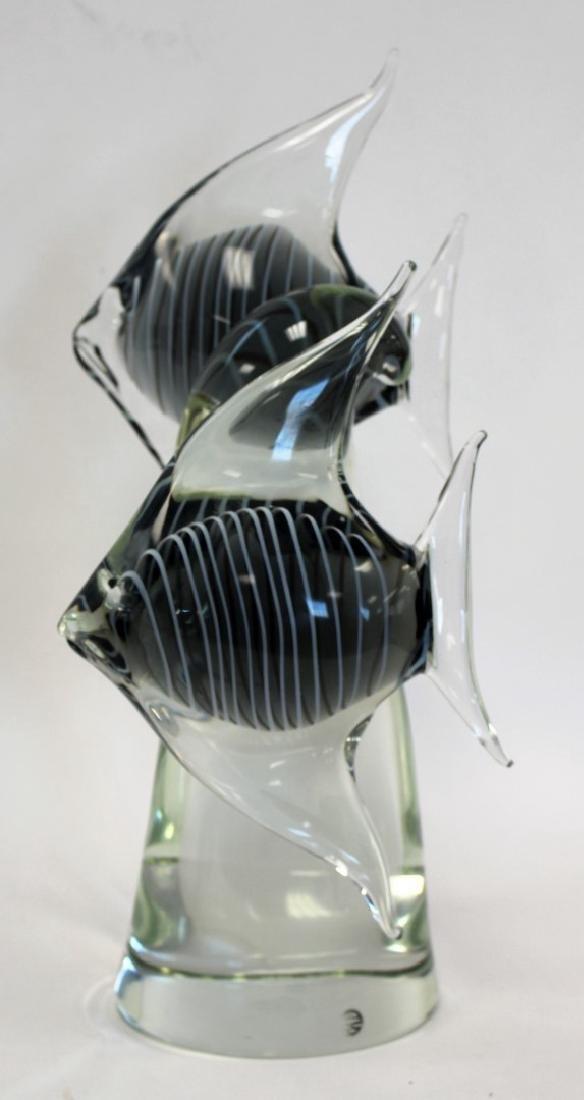 Elio Raffaeli; Italian Murano Glass Fish Grouping