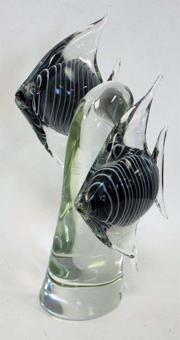 Elio Raffaeli; Italian Murano Glass Fish Grouping - 3