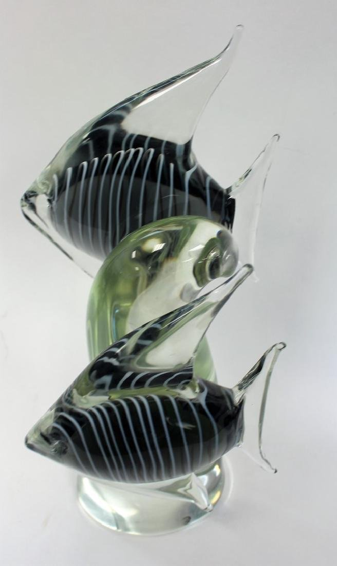 Elio Raffaeli; Italian Murano Glass Fish Grouping - 5