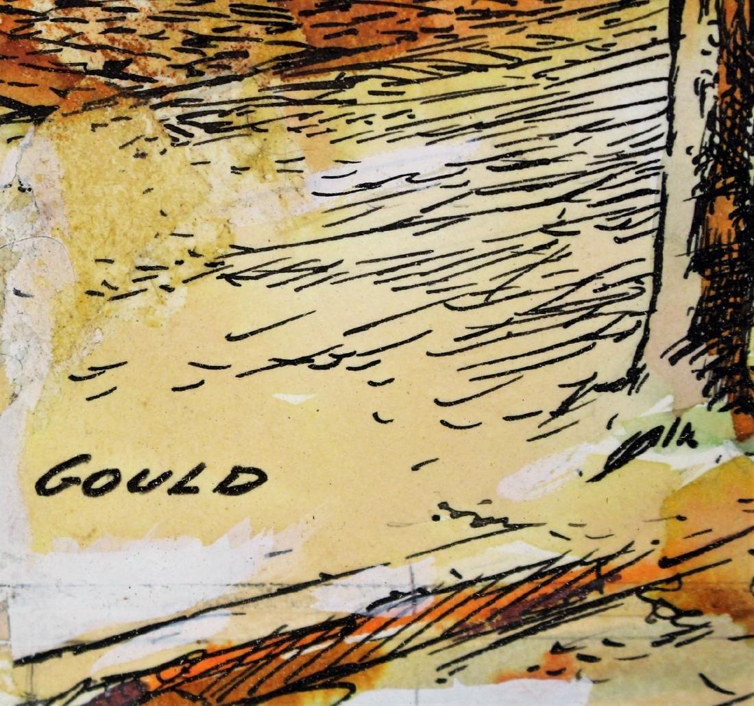 John Gould; 20thC. Watercolor Illustration Signed - 5