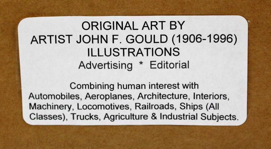 John Gould; 20thC. Watercolor Illustration Signed - 7