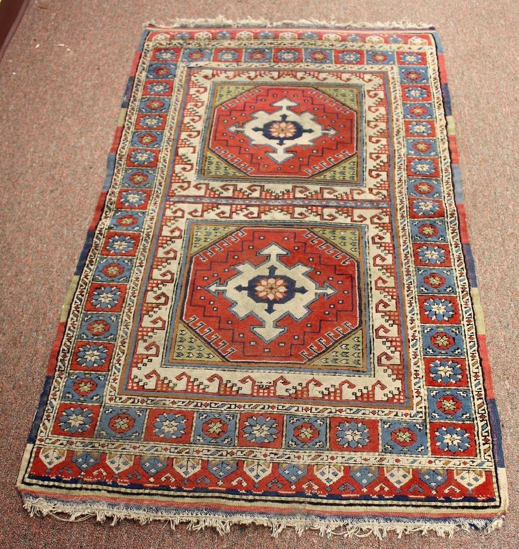 Semi-Antique Caucasian Carpet 2.10 x 4.1