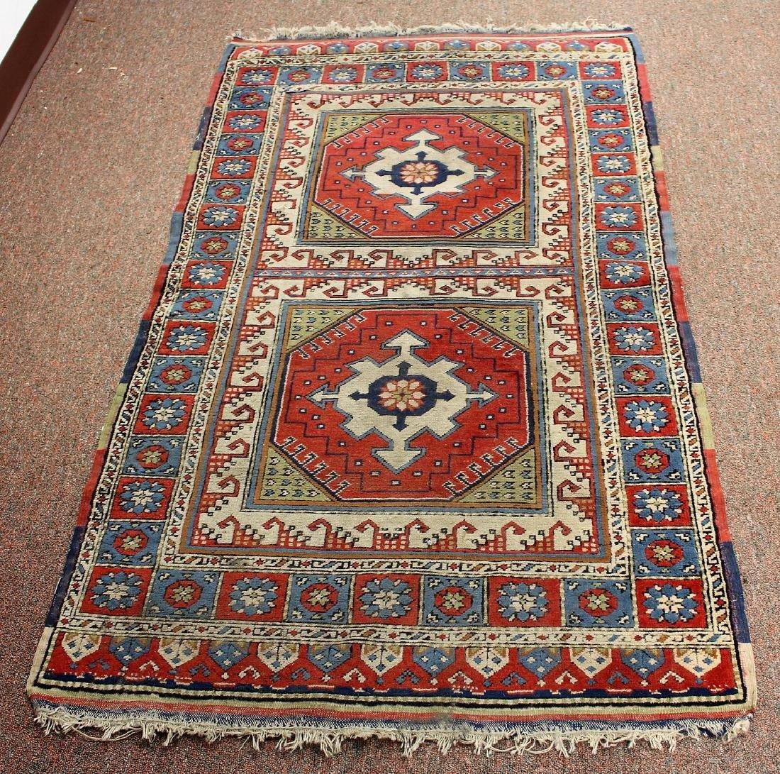 Semi-Antique Caucasian Carpet 2.10 x 4.1 - 2