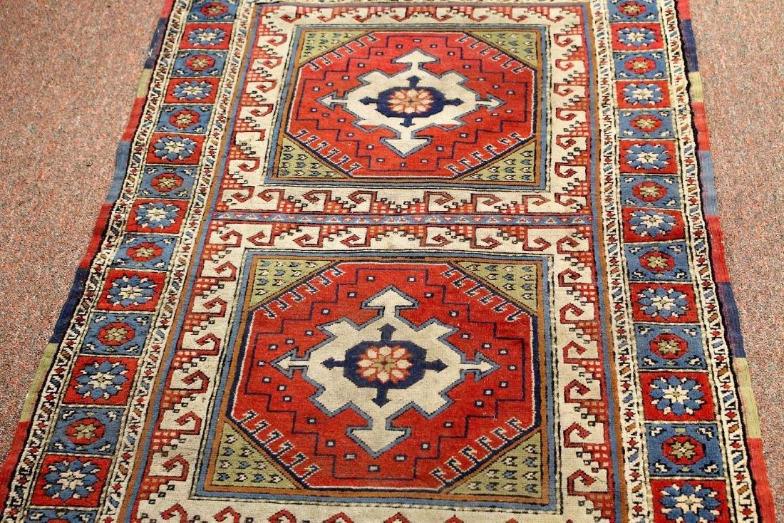 Semi-Antique Caucasian Carpet 2.10 x 4.1 - 3