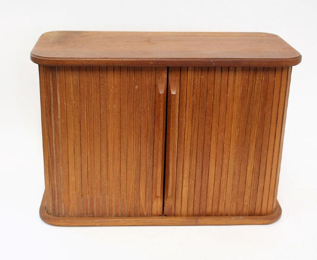 Danish Modern Walnut Tambor Cabinet