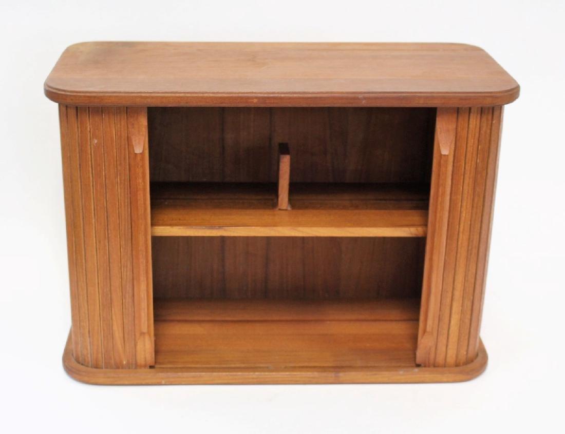 Danish Modern Walnut Tambor Cabinet - 2