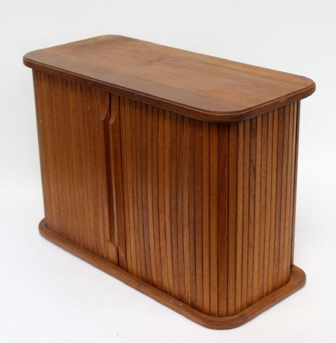 Danish Modern Walnut Tambor Cabinet - 3