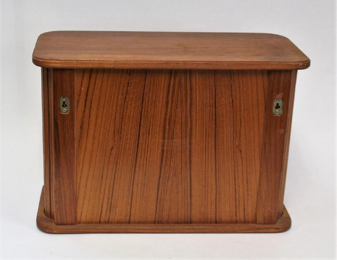 Danish Modern Walnut Tambor Cabinet - 4