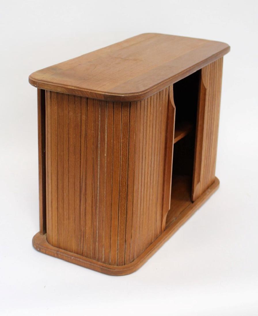 Danish Modern Walnut Tambor Cabinet - 5