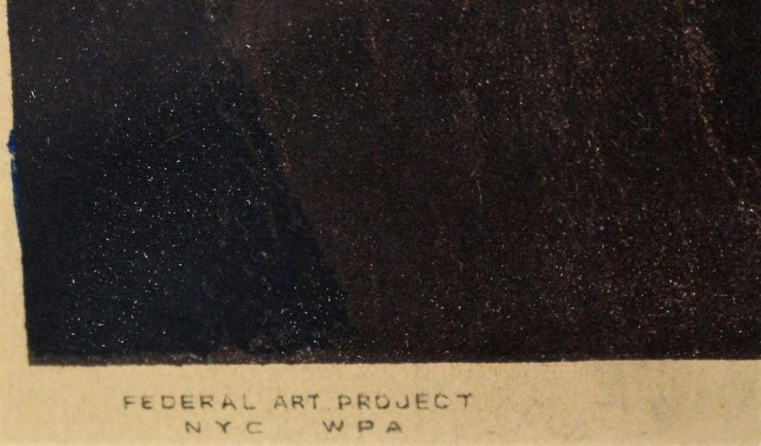 Joseph Leboit; WPA Lithograph Signed - 4