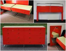 Five5 Piece Mid Century Modern Bedroom Set
