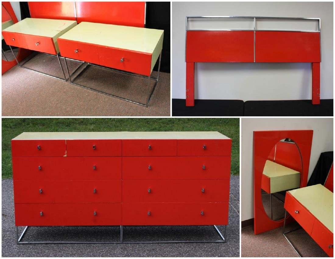 Five(5) Piece Mid Century Modern Bedroom Set