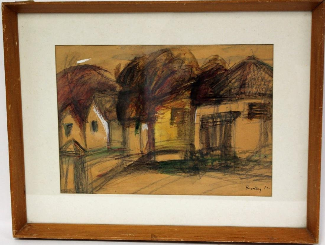 Maria Bozoky; 20thC. Hungarian Watercolor Signed - 3
