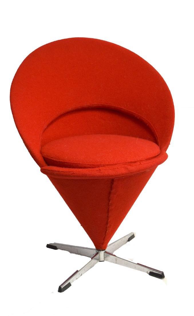 Verner Panton Mid Century Cone Chair