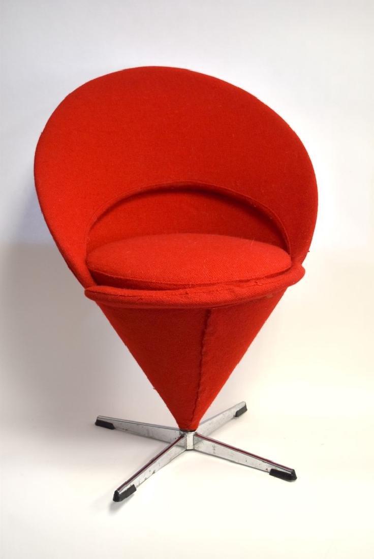 Verner Panton Mid Century Cone Chair - 2