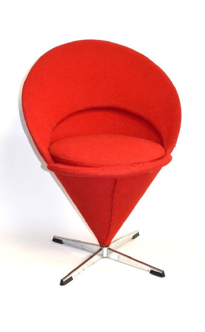 Verner Panton Mid Century Cone Chair - 3