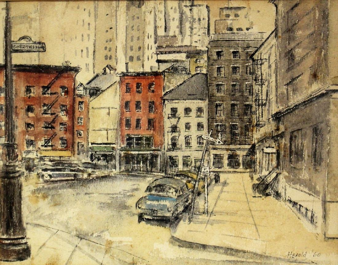 Harold; 20thC. Modernist Watercolor Signed