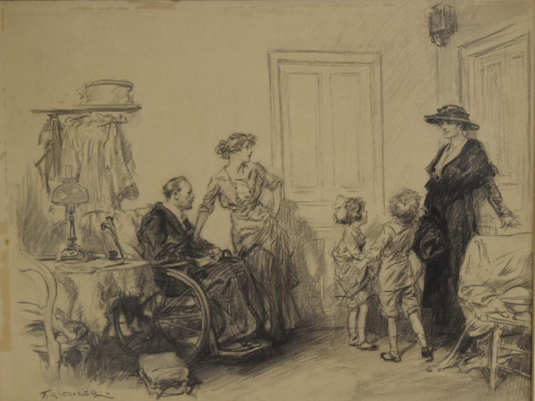 Frederic R. Gruger; American Charcoal Illustration