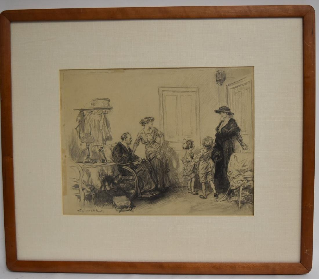 Frederic R. Gruger; American Charcoal Illustration - 2