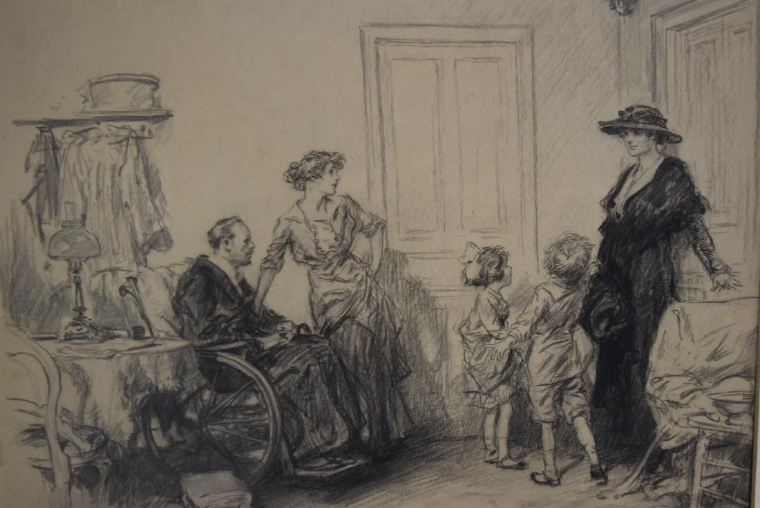 Frederic R. Gruger; American Charcoal Illustration - 4
